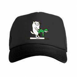Кепка-тракер Вежливый кот - FatLine
