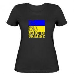 Женская футболка Виготовлено в Україні - FatLine