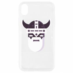 Чехол для iPhone XR Viking flat vector