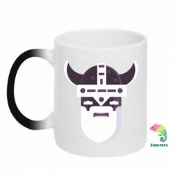 Кружка-хамелеон Viking flat vector