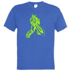 Чоловіча футболка з V-подібним вирізом Вікінг меч