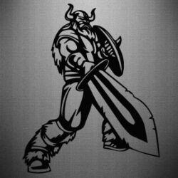 Наклейка Викинг меч