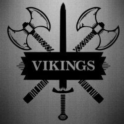 Наклейка Викинги меч