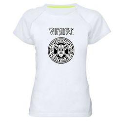 Женская спортивная футболка Vikings and axes