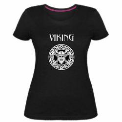 Женская стрейчевая футболка Vikings and axes