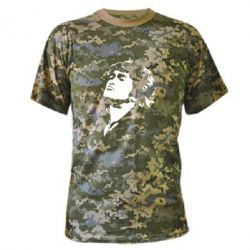 Камуфляжная футболка Виктор Цой - FatLine