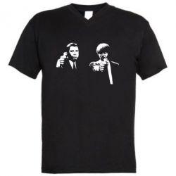 Мужская футболка  с V-образным вырезом Vincent and Jules - FatLine
