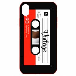 Чехол для iPhone XR Vintage audio cassette - FatLine