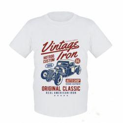 Дитяча футболка Vintage iron 1986