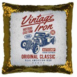 Подушка-хамелеон Vintage iron 1986