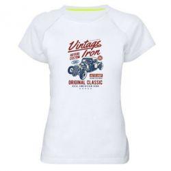 Жіноча спортивна футболка Vintage iron 1986
