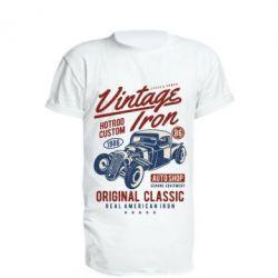 Подовжена футболка Vintage iron 1986