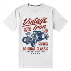 Чоловіча стрейчева футболка Vintage iron 1986