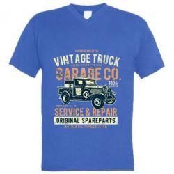 Чоловіча футболка з V-подібним вирізом Vintage Truck