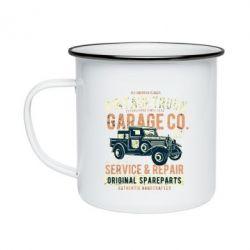 Кружка емальована Vintage Truck