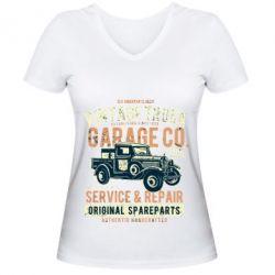Жіноча футболка з V-подібним вирізом Vintage Truck