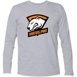 Купить Футболка с длинным рукавом Virtus logo, FatLine