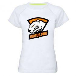 Купить Женская спортивная футболка Virtus logo, FatLine