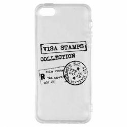 Нью Йорк (New York), Чехол для iPhone5/5S/SE Visa Stamps, FatLine  - купить со скидкой