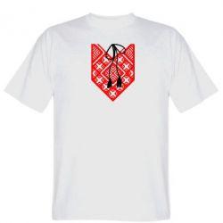 Мужская футболка Вишиванка з зав'язкою - FatLine