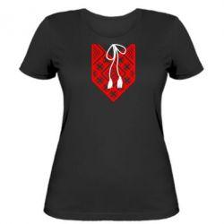 Женская футболка Вишиванка з зав'язкою - FatLine