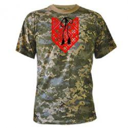 Камуфляжная футболка Вишиванка з зав'язкою - FatLine
