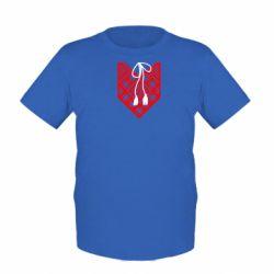 Детская футболка Вишиванка з зав'язкою