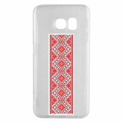 Чехол для Samsung S6 EDGE Вишиванка - FatLine