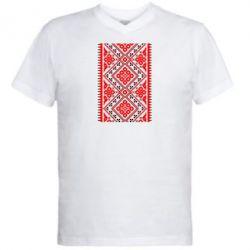 Мужская футболка  с V-образным вырезом Вишиванка