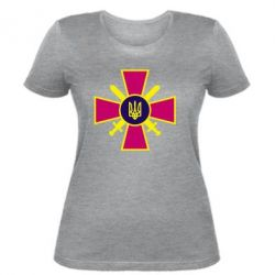 Женская футболка Військо України - FatLine