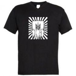 Мужская футболка  с V-образным вырезом Військо українське - FatLine