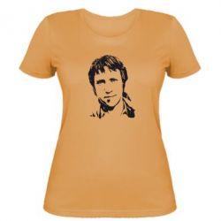 Женская футболка Владимир Высоцкий портрет - FatLine
