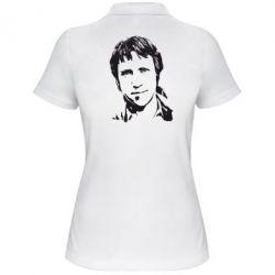 Женская футболка поло Владимир Высоцкий портрет - FatLine