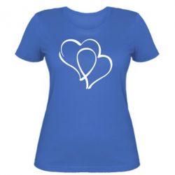 Женская футболка Влюбленные сердца - FatLine