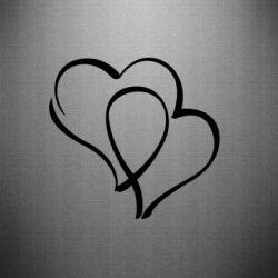 Наклейка Влюбленные сердца - FatLine