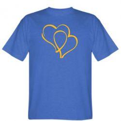 Мужская футболка Влюбленные сердца - FatLine