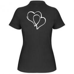 Женская футболка поло Влюбленные сердца - FatLine