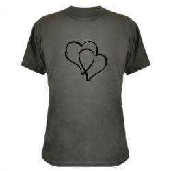 Камуфляжная футболка Влюбленные сердца - FatLine