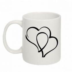 Кружка 320ml Влюбленные сердца - FatLine