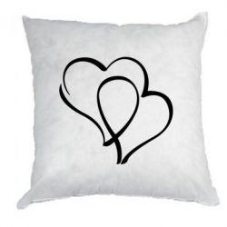 Подушка Влюбленные сердца - FatLine