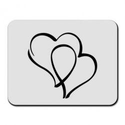 Коврик для мыши Влюбленные сердца - FatLine