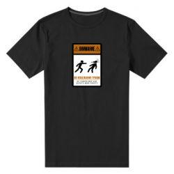 Мужская стрейчевая футболка Внимание Во Избежание травм Не Говори мне как работать