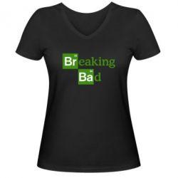 Женская футболка с V-образным вырезом Во все тяжкие (Breaking Bad) - FatLine