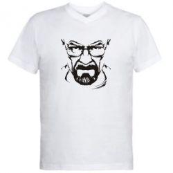 Мужская футболка  с V-образным вырезом Во все тяжкие (Уолтер) - FatLine