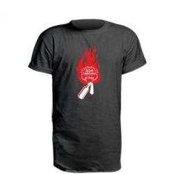 Удлиненная футболка Вогонь запеклих не пече