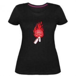 Женская стрейчевая футболка Вогонь запеклих не пече