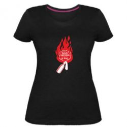 Жіноча стрейчева футболка Вогонь запеклих не пече