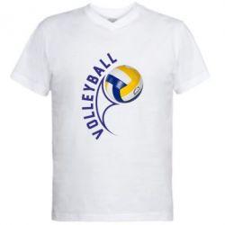 Мужская футболка  с V-образным вырезом Волейбол