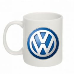 Кружка 320ml Volkswagen 3D Logo - FatLine