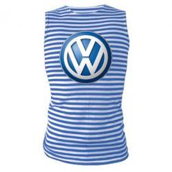 Майка-тельняшка Volkswagen 3D Logo - FatLine